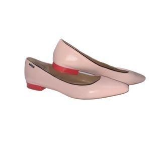 Calvin Klein EllaSandra Pink Leather Flats size 9
